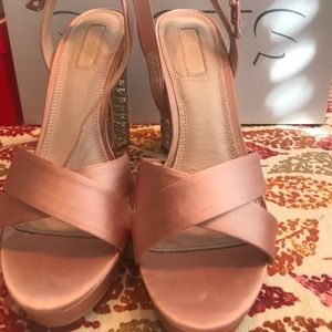 NUDE BLUSH Satin Like Sandals